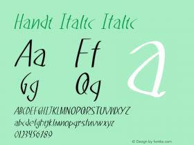 Handi Italic Italic Version 1.000图片样张