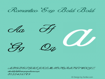Romantico Exp Bold Bold Version 1.000图片样张