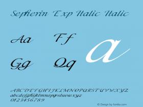Sepherin Exp Italic Italic Version 1.000图片样张