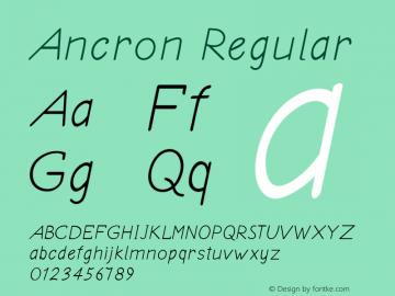 Ancron Regular Version 1.000图片样张