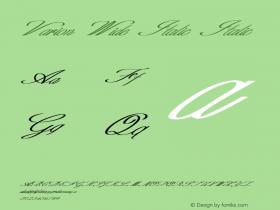 Varion Wide Italic Italic Version 1.000图片样张