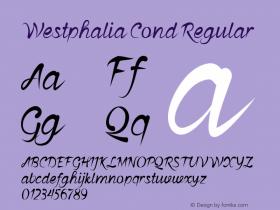 Westphalia Cond Regular Version 1.000图片样张