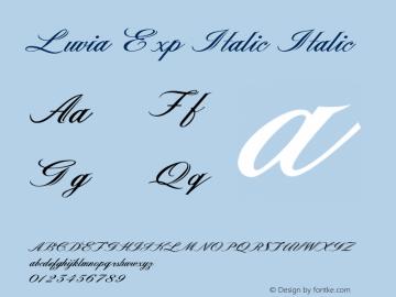 Luvia Exp Italic Italic Version 1.000图片样张