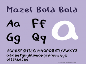 Mazel Bold Bold Version 1.000图片样张