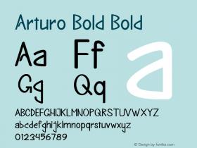 Arturo Bold Bold Version 1.000图片样张