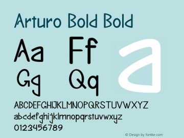 Arturo Bold Bold Version 1.000图片样张