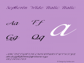 Sepherin Wide Italic Italic Version 1.000图片样张