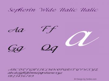 Sepherin Wide Italic Italic Version 1.000图片样张
