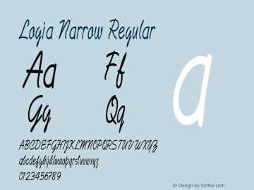 Logia Narrow Regular Version 1.000图片样张