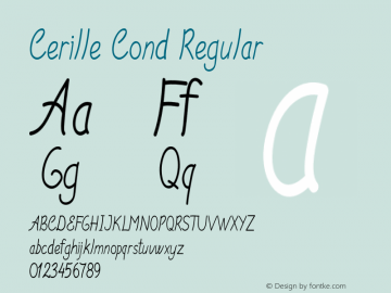 Cerille Cond Regular Version 1.000图片样张