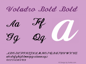 Voladro Bold Bold Version 1.000图片样张