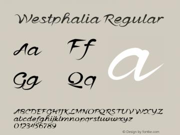 Westphalia Regular Version 1.000图片样张