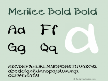 Merilee Bold Bold Version 1.500图片样张