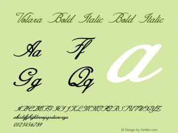 Volara Bold Italic Bold Italic Version 1.000图片样张