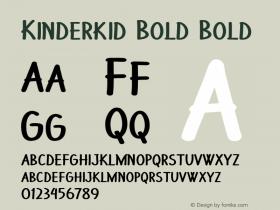 Kinderkid Bold Bold Version 1.000图片样张