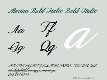 Merino Bold Italic Bold Italic Version 1.000图片样张