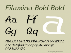 Filamina Bold Bold Version 1.000图片样张