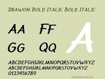 Drawon Bold Italic Bold Italic Version 1.000图片样张