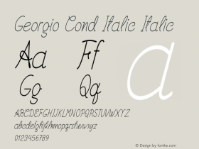 Georgio Cond Italic Italic Version 1.000图片样张