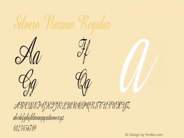 Silvero Narrow Regular Version 1.000图片样张