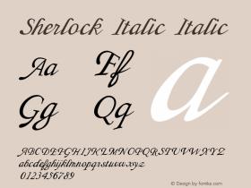 Sherlock Italic Italic Version 1.000图片样张