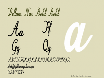 Vellum Nar Bold Bold Version 1.000图片样张
