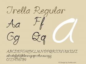 Trella Regular Version 1.000图片样张