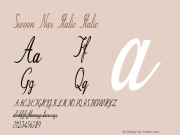 Swoon Nar Italic Italic Version 1.000图片样张