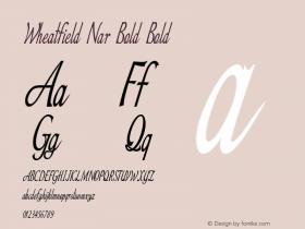 Wheatfield Nar Bold Bold Version 1.000图片样张