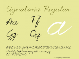 Signatoria Regular Version 1.000图片样张