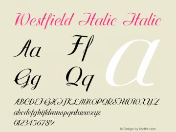 Westfield Italic Italic Version 1.000图片样张