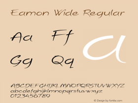 Eamon Wide Regular Version 1.500图片样张