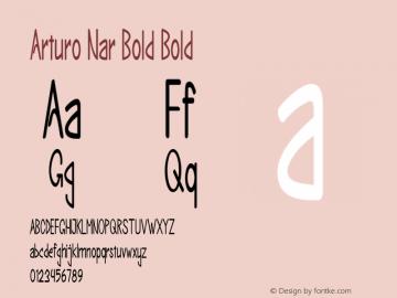 Arturo Nar Bold Bold Version 1.000图片样张