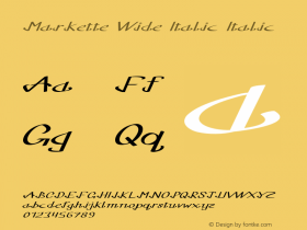 Markette Wide Italic Italic Version 1.000图片样张