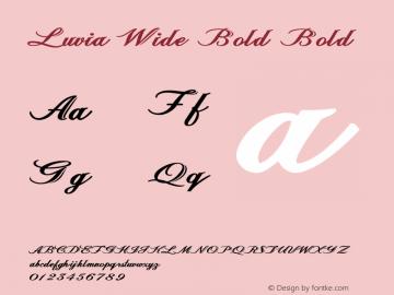 Luvia Wide Bold Bold Version 1.000图片样张