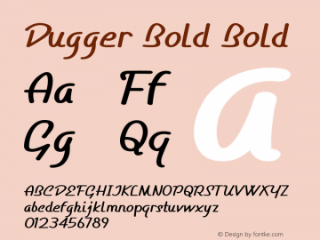 Dugger Bold Bold Version 1.000图片样张