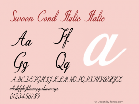 Swoon Cond Italic Italic Version 1.000图片样张