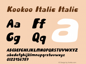 Kookoo Italic Italic Version 1.000图片样张