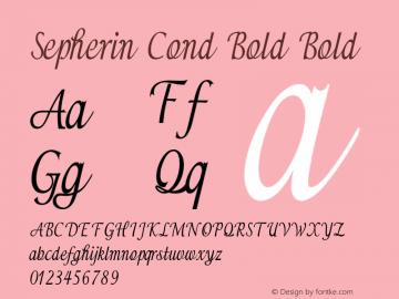 Sepherin Cond Bold Bold Version 1.000图片样张