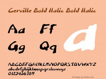Cerville Bold Italic Bold Italic Version 1.000图片样张