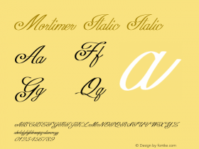 Mortimer Italic Italic Version 1.000图片样张