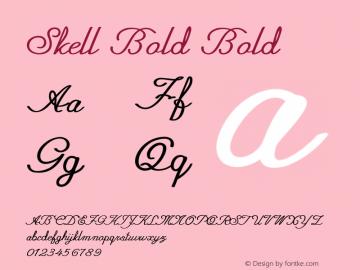 Skell Bold Bold Version 1.000图片样张