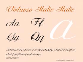 Virtuoso Italic Italic Version 1.000图片样张
