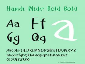 Handi Wide Bold Bold Version 1.000图片样张
