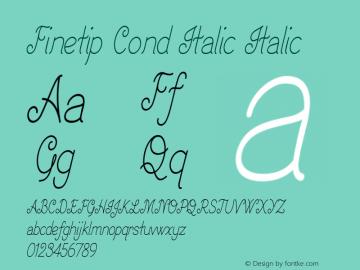 Finetip Cond Italic Italic Version 1.000图片样张
