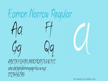 Eamon Narrow Regular Version 1.500图片样张