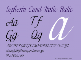 Sepherin Cond Italic Italic Version 1.000图片样张