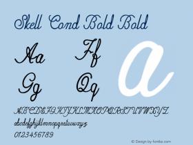 Skell Cond Bold Bold Version 1.000图片样张