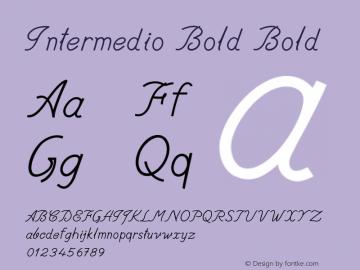 Intermedio Bold Bold Version 1.000图片样张