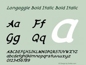 Longaggle Bold Italic Bold Italic Version 1.000图片样张